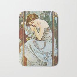 Alphonse Mucha  - Nocturnal Slumber Bath Mat