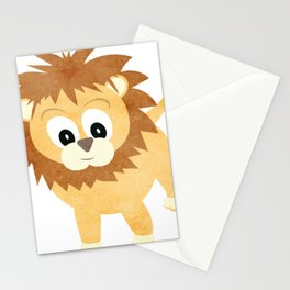 Baby Lion Cub Stationery Cards