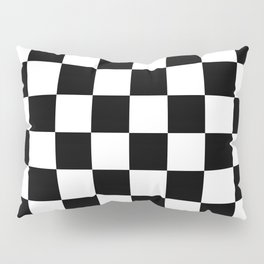 Checkered Pattern: Black & White Pillow Sham