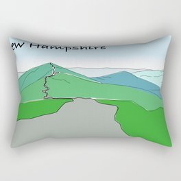 Franconia Ridge, New Hampshire. Landscape design from mountain Rectangular Pillow