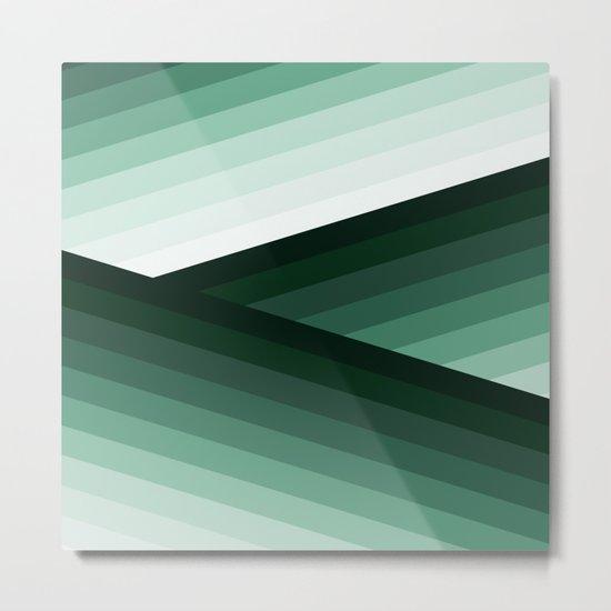 Serene Contemporary Green Ombre Design Metal Print