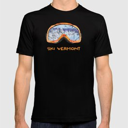 Ski Vermont Ski Goggles — Orange T-shirt
