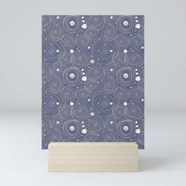 Blue Scribbles Pattern 08 Mini Art Print