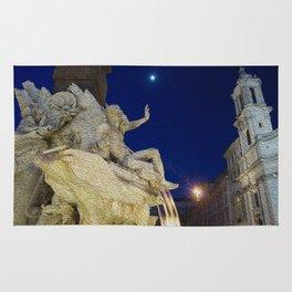 Fountain in Rome Rug