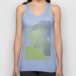 Yellow and Gray Ombre Watercolor  Unisex Tank Top