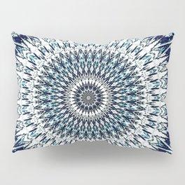 Indigo Navy White Mandala Design Pillow Sham