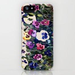 Pansies iPhone Case