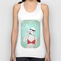 bubbles Tank Tops featuring Bubbles by Cisternas