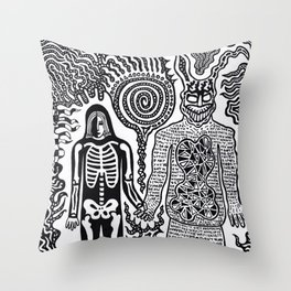 I was in a skeleton suit holding your hand... then I woke up / In honour of Donnie Darko Throw Pillow