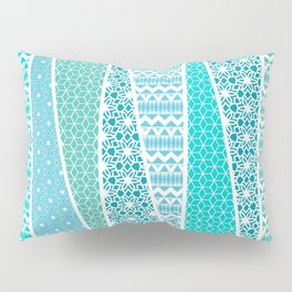 Patterned Triangles Pillow Sham