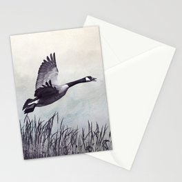 Graceful Canada Geese Flying Stationery Cards