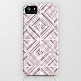 Herringbone Diamonds - Mauve iPhone Case