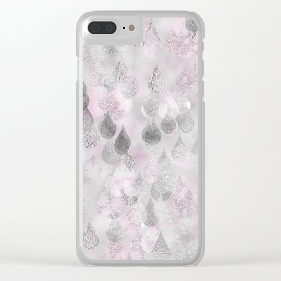 Rainy days-Sparkling autumnal raindrops Clear iPhone Case