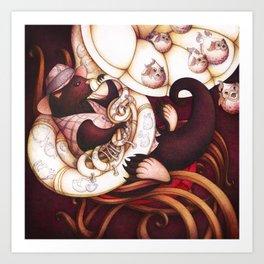 Jazzy Otter Art Print