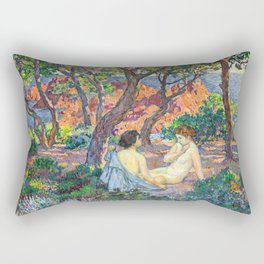 Theo van Rysselberghe - In the Shade of the Pines (new color edit) Rectangular Pillow