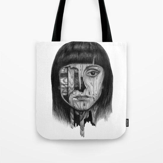 Wood Girl Tote Bag