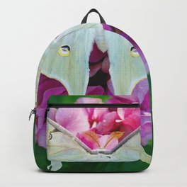 Luna Moth On Pink Hydrangea Nature Art Backpack