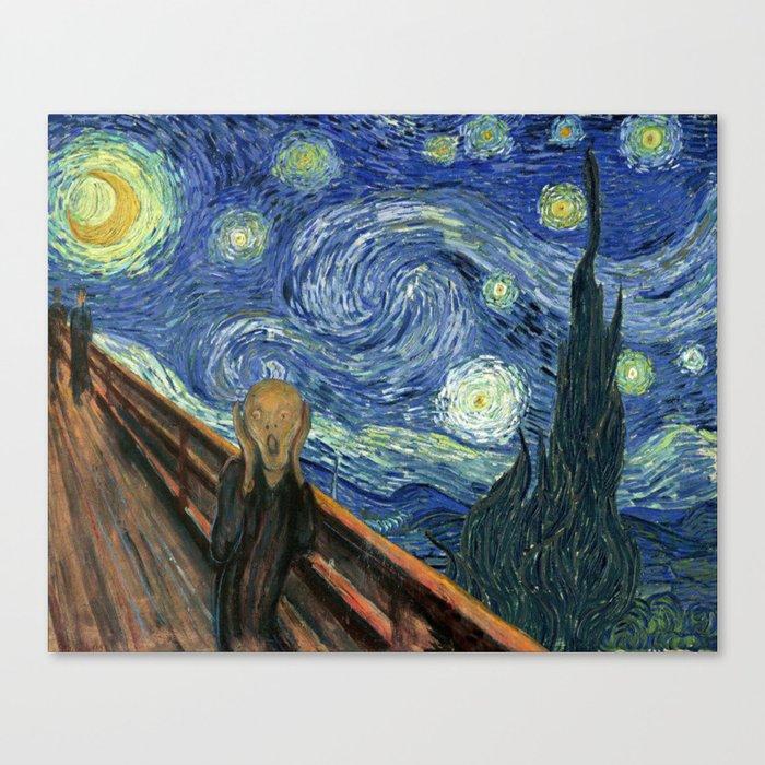 The Scream Starry Night Edvard Munch Vincent Van Gogh