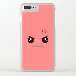 ANGRY! Kawaii Face (Check Out The Mugs!) Clear iPhone Case