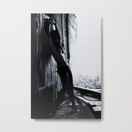 Nude BW Metal Print