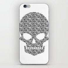 Skull + flowers iPhone & iPod Skin