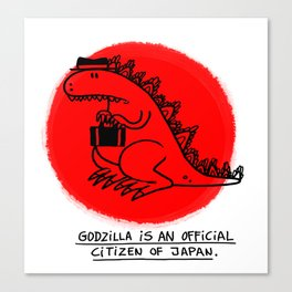 Godzilla Fun Fact Canvas Print