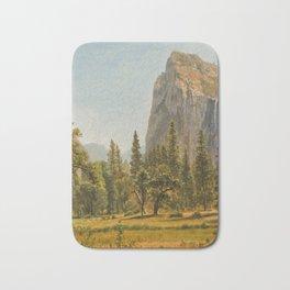 Bridal Veil Falls, Yosemite Valley, California Bath Mat