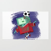 soccer Area & Throw Rugs featuring BMO Soccer by AbigailC