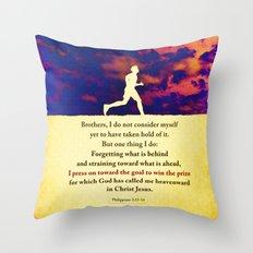 Press On! Throw Pillow