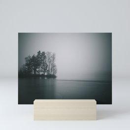 Misty lake Mini Art Print