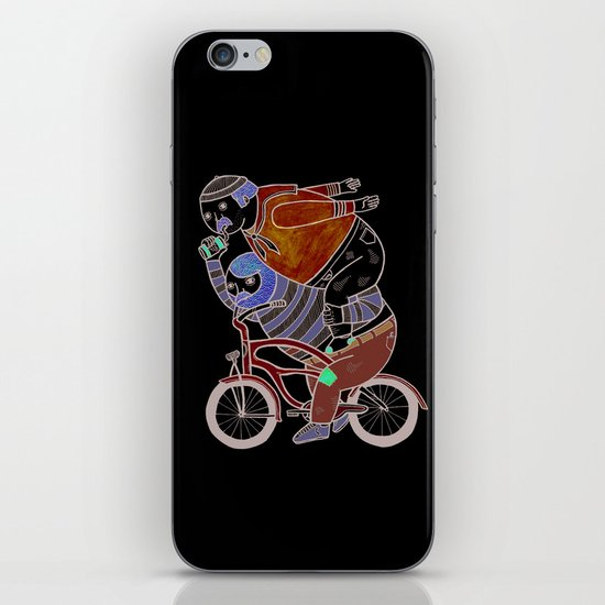 On how bicycle riders utilize team work in certain situations. iPhone Skin