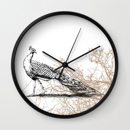Peacock print Wall Clock