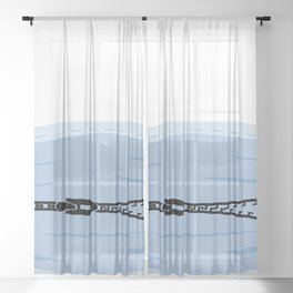 Zip it Protection motto of 2020 Sheer Curtain