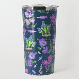 Purple flowers mix - BBG Travel Mug