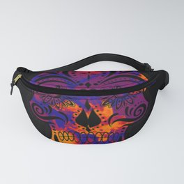 Amazing Sugar Skull,blue Fanny Pack
