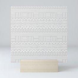 Mud Cloth on Light Gray Mini Art Print