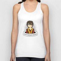 zuko Tank Tops featuring That's Rough Buddy by CorgiBlue