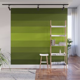 Dark Green Pear - Color Therapy Wall Mural