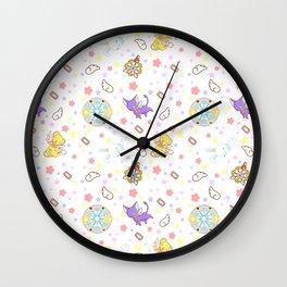 cardcaptor sakura kawaii pattern Wall Clock