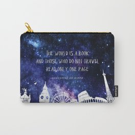 The world is a book Carry-All Pouch