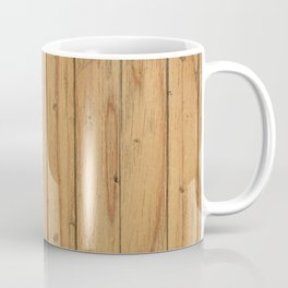 Rustic Wood Panel Pattern Coffee Mug