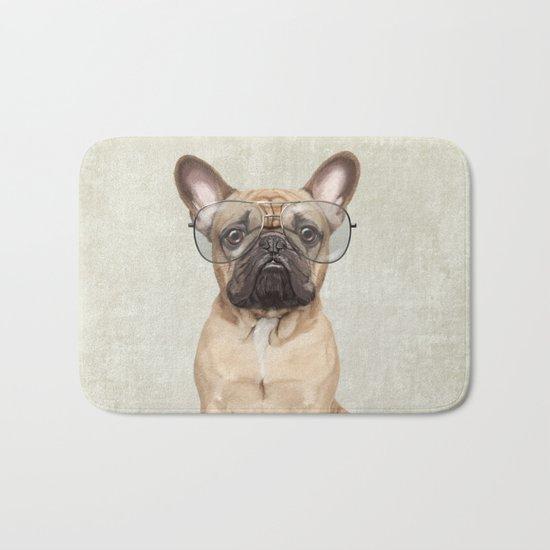 Mr French Bulldog Bath Mat
