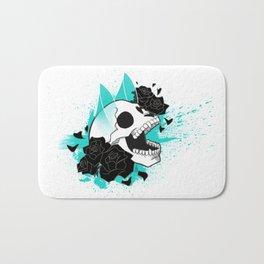 Skull 'n' Roses (ScribbleNetty-Colored) Bath Mat