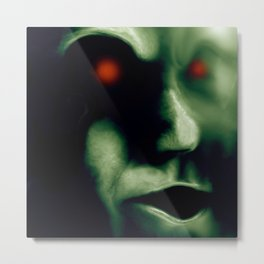 The Green Visitor Metal Print