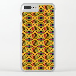 African kente pattern 6 Clear iPhone Case