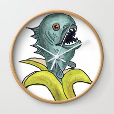 piranha banana Wall Clock