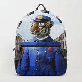 Postmaster Trenton Tigre on his Appointed Rounds Backpack