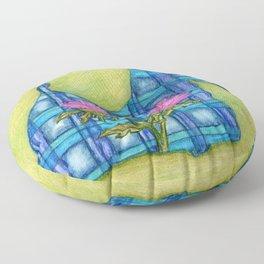 Scottish Terrier Silhouette Floor Pillow