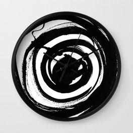 Swirl Black Wall Clock
