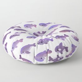 Whale Day - bright Floor Pillow